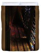 Stained Glass Impression Notre Dame Paris Duvet Cover