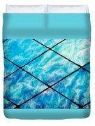 Stained Glass In Blues Duvet Cover