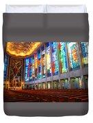 Stained Glass Of St Josephs, Hartford Duvet Cover