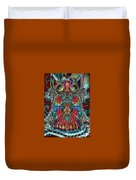 Stained Glass Owl  Duvet Cover