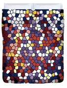 Vector Stained Glass Duvet Cover
