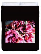 Stained Glass Roses 2 Duvet Cover