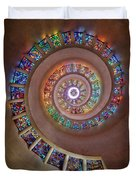 Stained Glass Spiral Duvet Cover