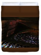 Stained Glass Sunset Notre Dame Paris Duvet Cover