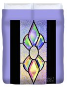 Stained Glass Watercolor Duvet Cover