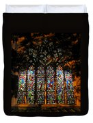 Stained Glass Window Christ Church Cathedral 1 Duvet Cover