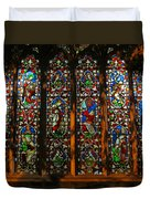 Stained Glass Window Christ Church Cathedral 2 Duvet Cover