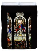 Stained Glass Window Last Supper Saint Giles Cathedral Edinburgh Scotland Duvet Cover by Christine Till