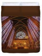 Windows Of Saint Chapelle Duvet Cover