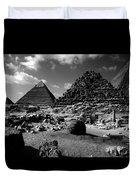 Stair Stepped Pyramids Duvet Cover