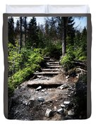 Stair Stone Walkway In The Forest Duvet Cover