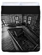 Stairs Black And White Duvet Cover