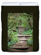 Stairs Going Up Hillside Duvet Cover