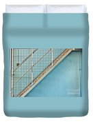 Stairs On Blue Wall Duvet Cover