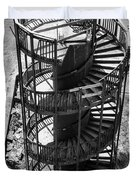 Stairs To Nowhere In Pismo Beach Duvet Cover by Priya Ghose