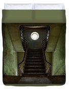Stairs Toward The Attic - Abandoned House Duvet Cover