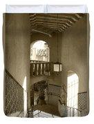 Stairway - In Sepia Duvet Cover