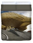 Stairway Leading Up To Metropol Parasol In The Plaza Of The Inca Duvet Cover