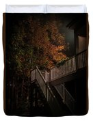 Stairway To Autumn Leaves Duvet Cover