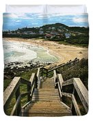 Stairway To Beach Duvet Cover