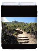 Stairway To Heaven On Mt Tamalpais Duvet Cover