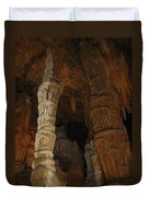 Stalacmites In Luray Caverns Va  Duvet Cover