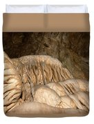 Stalactite Formation In Karst Cave Duvet Cover