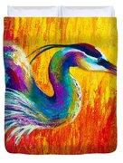 Stalking The Marsh - Great Blue Heron Duvet Cover