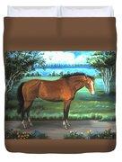 Stallion Portrait Duvet Cover