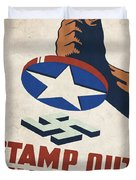 Stamp Out The Axis - Vintagelized Duvet Cover