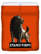 Stand Firm Lion - Ww2 Duvet Cover