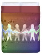 Stand Together In Peace Duvet Cover