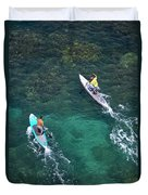Stand Up Paddlers II Duvet Cover