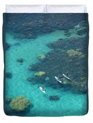 Stand Up Paddlers Duvet Cover