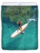 Stand Up Paddling II Duvet Cover
