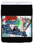 Stand With Palestine Duvet Cover