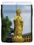 Standing Budda At Mi Tuo Shi Duvet Cover