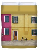 Standing By For A Quick Get Away In Burano Italy Duvet Cover