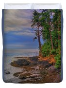 Standing By The Sea Duvet Cover