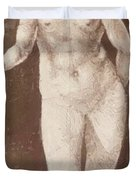 Standing Female Nude With Baton In The Right Duvet Cover