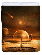 Standing In Time Duvet Cover