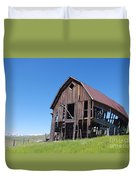 Standing Old Wooden Barn  Duvet Cover