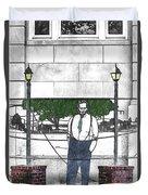 Standing On A Corner In Asheville Carolina Duvet Cover
