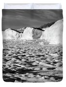 Standing On Lake Michigan Ice Duvet Cover