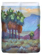 Standing Tall At Thousand Palms Duvet Cover