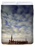 St.annes Beach, Lancashire, England Duvet Cover