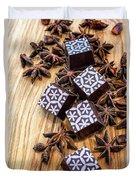Star Anise Chocolate Duvet Cover
