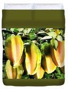 Star Apple Fruit On Tree Duvet Cover