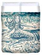 Star Bearer Mermaid Duvet Cover by Monique Faella