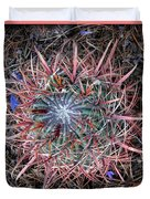 Star Cactus Pink-aqua-blue Duvet Cover